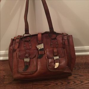 Original authentic Vintage Leather Handbag
